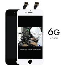 AAA sin píxeles muertos 20 unids/lote pantalla 4,7 digitalizador para iPhone 6 reemplazo de montaje para pantalla LCD soporte de cámara