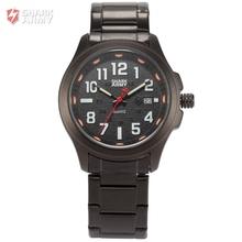 Shark Army Full Stainless Steel Black Band Date Display Relogio Quartz Analog Montre Homme Sport Wrist Men Military Watch/SAW125