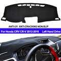 TAIJS Auto Armaturenbrett Abdeckung Schlagmatte Dash Pad DashMat Teppich Anti-Uv Rutschfeste Für Honda CRV CR-V LHD 2012 2013 2014 2015 2016