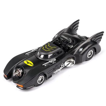 цена на 1:32 scale hot diecast car dc super hero dark knight batman batmobile wheel metal model pull back toy collection light and sound