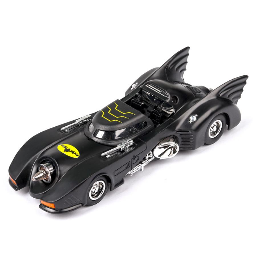 1:32 scale hot diecast <font><b>car</b></font> dc super hero dark knight batman batmobile <font><b>wheel</b></font> metal <font><b>model</b></font> pull back toy collection light and sound image
