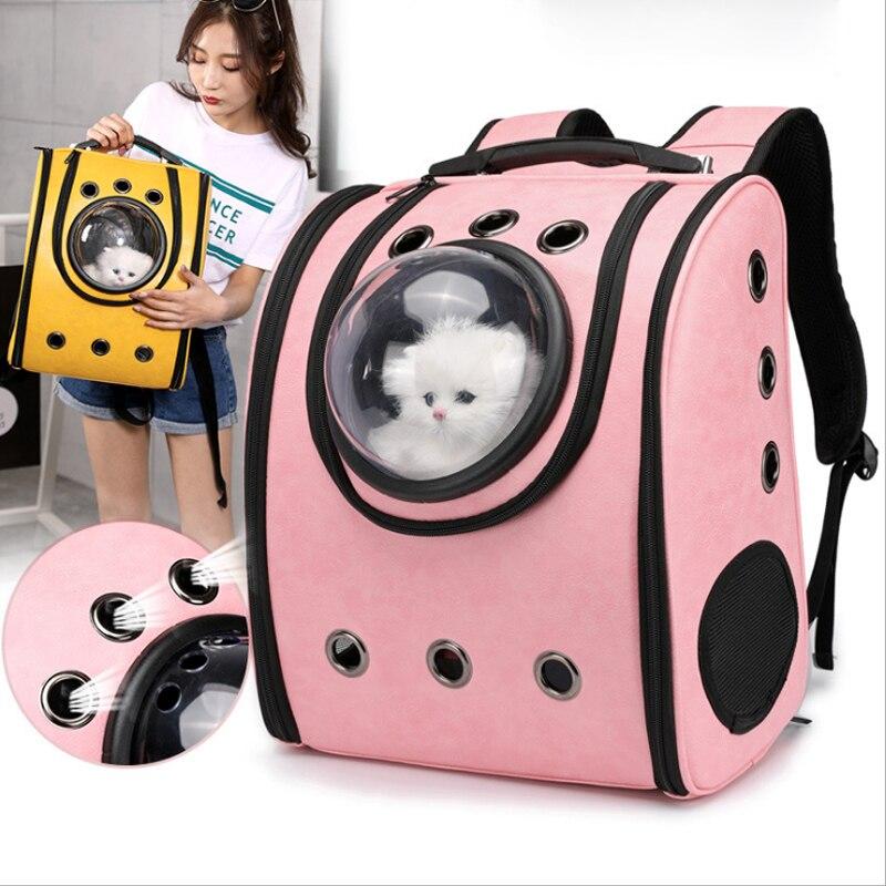 Pet chiot chat sac Nouvelle mode pet capsule spatiale chien voyage transporteur espace en cuir capsule pet dog carrier sac à dos sport surpasser