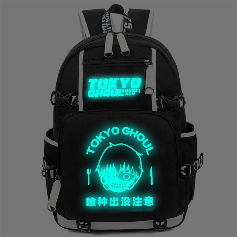 High Quality Tokyo Ghoul Backpacks School Bags Anime Fans Unisex Black Shoulder Laptop Bags anime tokyo ghoul cosplay anime shoulder bag male and female middle school student travel leisure backpack