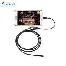 Водонепроницаемый 1 М USB Змея Инспекции Камеры Эндоскопа 7 мм Мини Камеры Бороскоп 6 СВЕТОДИОДНЫХ 1 М Трубка Тонкая IP67 Android