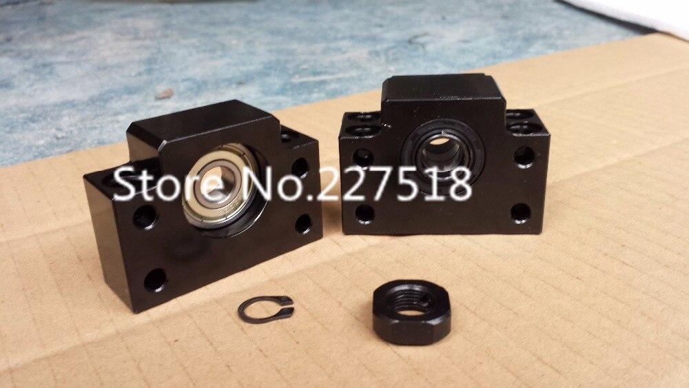 SFU2505 Support de vis à billes 3 pièces BK20 + 3 pièces BF20 + 1 PC BK15 + 1 PC BF15 match utilise roulement angulaire 7004 fin support CNC partie