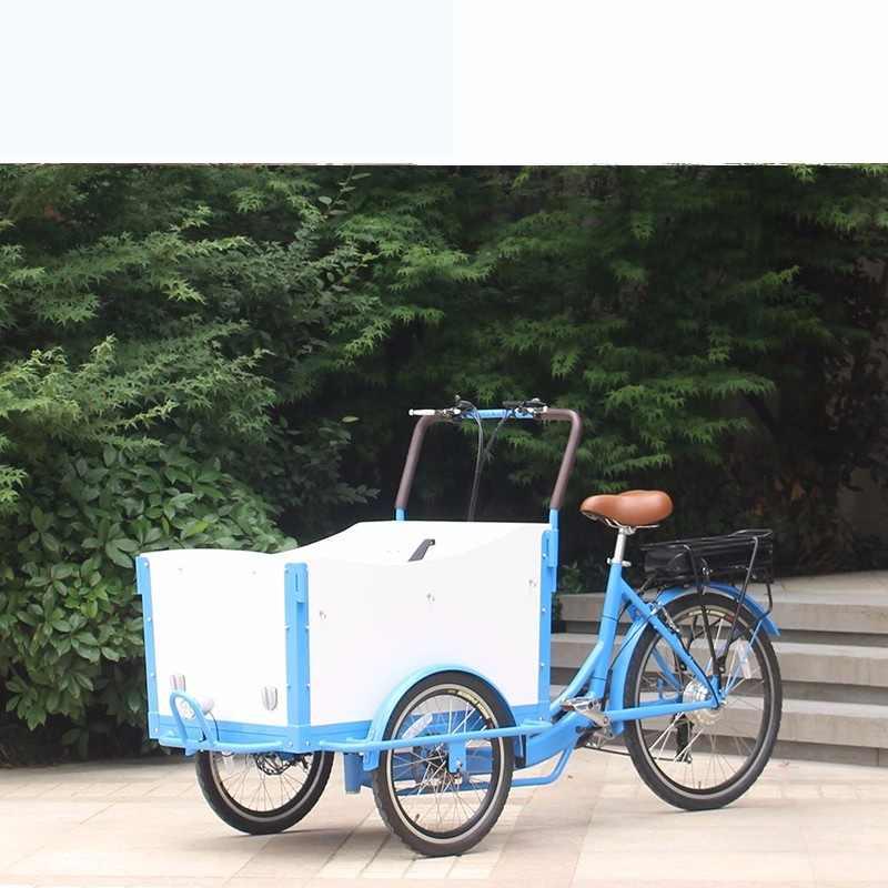 CE 認証と子供のための 3 輪家族貨物自転車トライク鋼フレーム