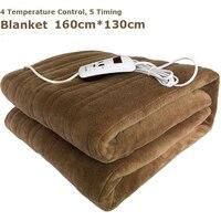 Waterproof Electric Blanket Double 220V Electric Heated Blanket Mat Single control Dormitory Bedroom Heating Carpet