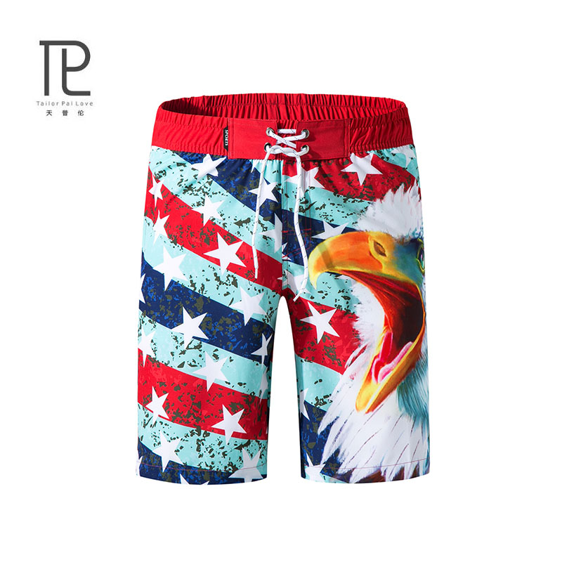 tailor pal love new arrivals summer men board shorts casual quick dry beach shorts printed surf usa star modis short mens #c085 image