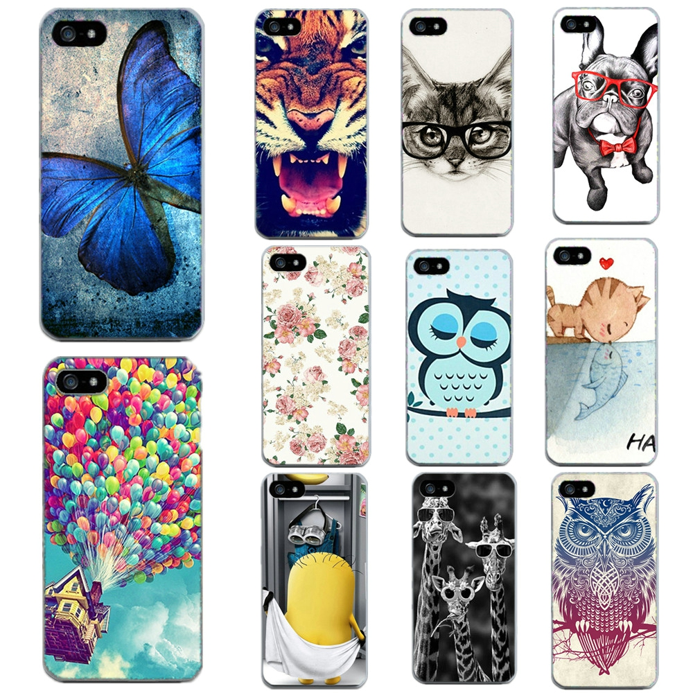 For Apple Iphone 6 6S 5 5S SE 4 4S 7 7 Plus Phone Bags Cases Soft Thin Tiger Cat Print Cases For Iphone6 6S Shell
