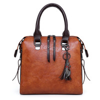 Elegant 4pc Faux Leather Bag Set