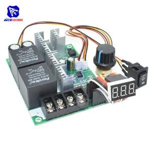 Image 4 - Diymore dc 10  50v 40A pwm dcモータ速度コントローラフォワード調整可能なポテンショメータスイッチledデジタルディスプレイ