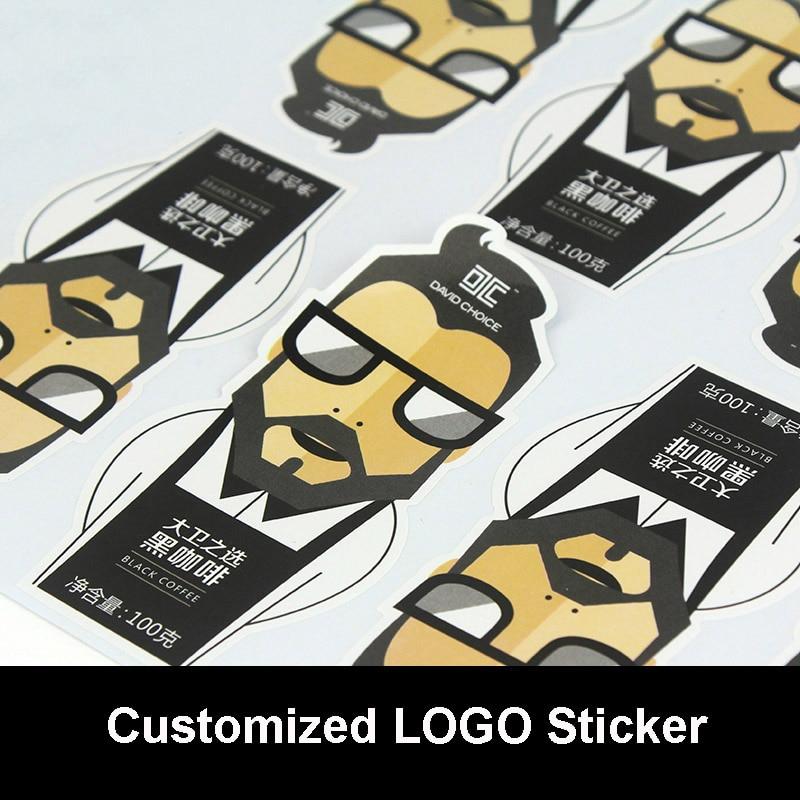 Customized LOGO Silver Drawbench/Matte Silver Sticker Company QR Code Sticker Personalized Stickers PVC Stickers Wholesale nl6 green matte silver