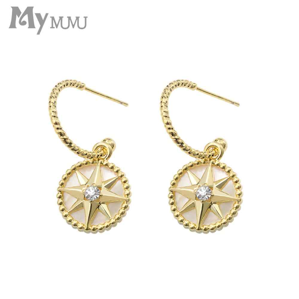 Natural Shell Star Earrings Long Earrings Simple Personality Earrings 2019 New Fashion Summer Earrings Small Earrings z740