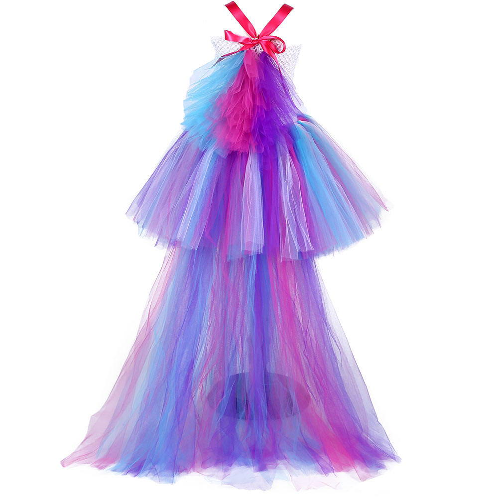 Princesa chica unicornio bullicio vestido del tutú niñas Arco Iris ...