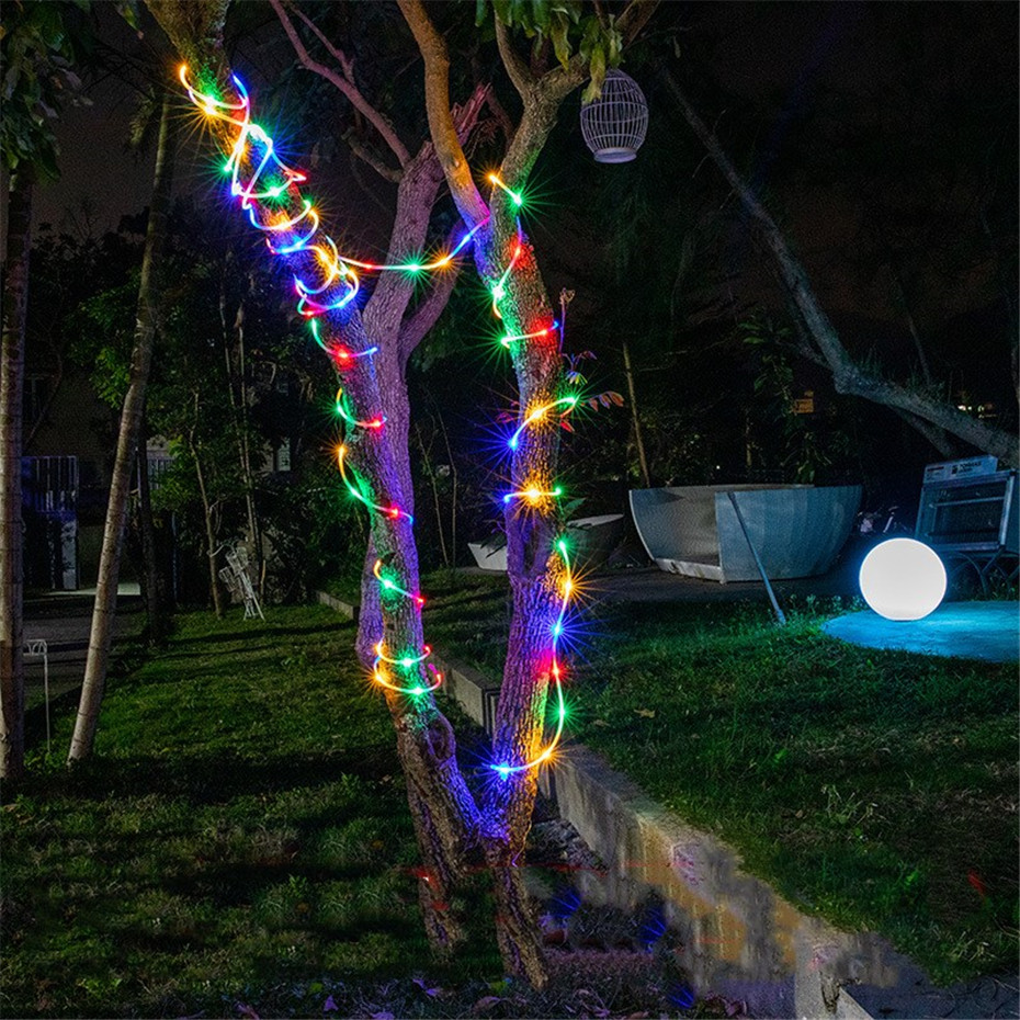 Image 4 - LED Tube Strip lights 8 Play Modes Remote Control USB Garland Outdoor Indoor DIY Decoration Christmas Wedding Garden Tree Lights-in Holiday Lighting from Lights & Lighting on