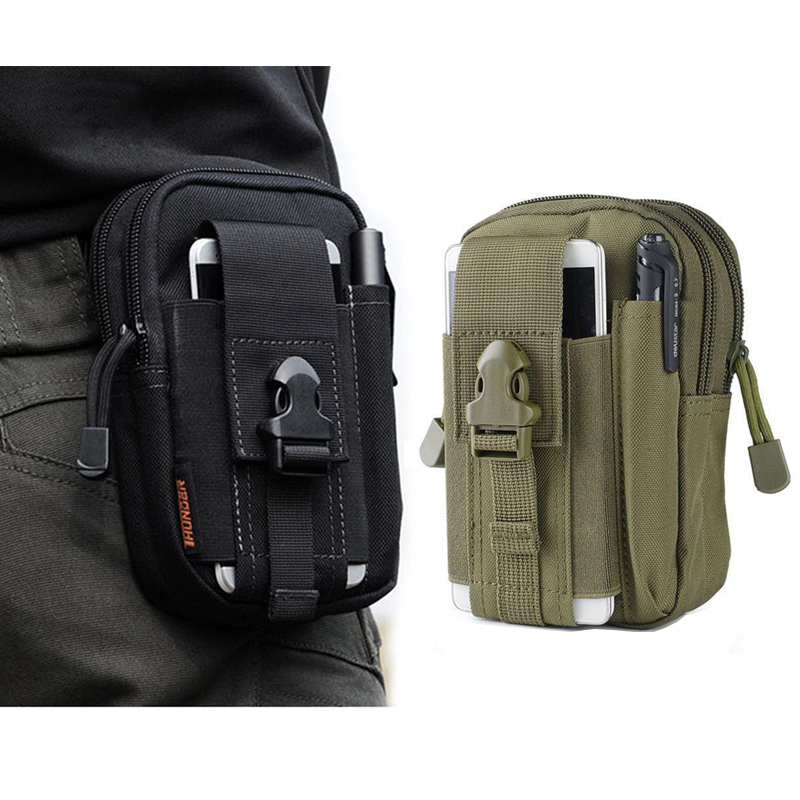 Sport Molle Tactical Waist Bag Men Outdoor Casual Waist Pack Wallet Mobile Phone Case For blackview bv6000 bv5000 e7 ...