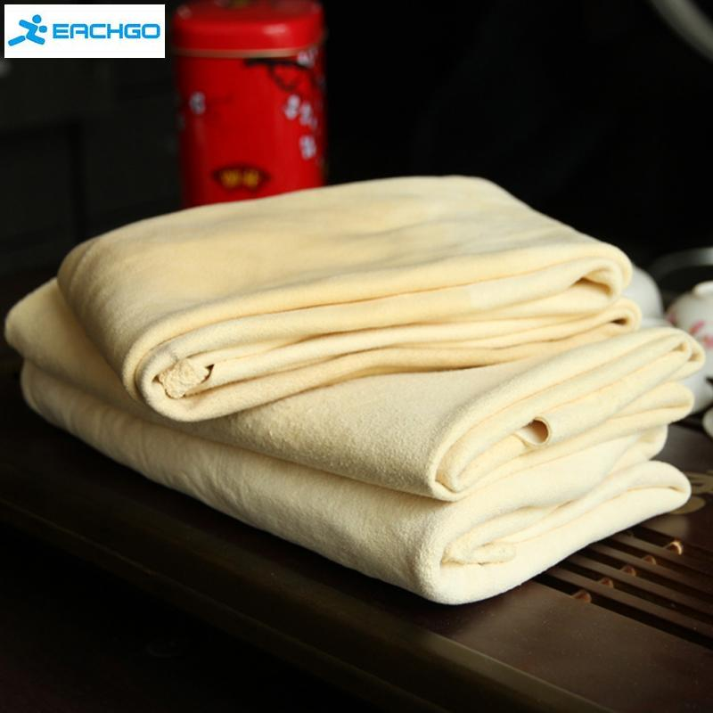 Auto Care Extra Large Auto Car Natural Drying Chamois (45x55cm approx) Deerskin Cleaning Cham Leather Cloth-in Sponges, Cloths & Brushes from Automobiles & Motorcycles