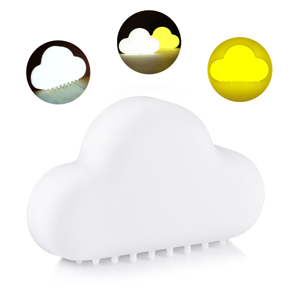 LED Cloud Night Lights Rechargeable Touch Sensor&Sound Control Wall Lights For Children Baby Bedroom Decoration Lamp With Magnet yimia creative 4 colors remote control led night lights hourglass night light wall lamp chandelier lights children baby s gifts