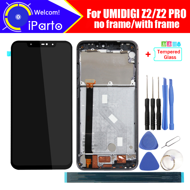 6 2 inch UMIDIGI Z2 LCD Display Touch Screen Digitizer Assembly 100 Original New LCD Touch