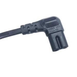 Image 5 - 3M 5M Abgewinkelt EU power kabel 2 Prong Pin Netzteil Schnur AC stecker zu abgewinkelt figur 8 C7 stecker 10ft 15ft für PS4,TV,DVD etc.