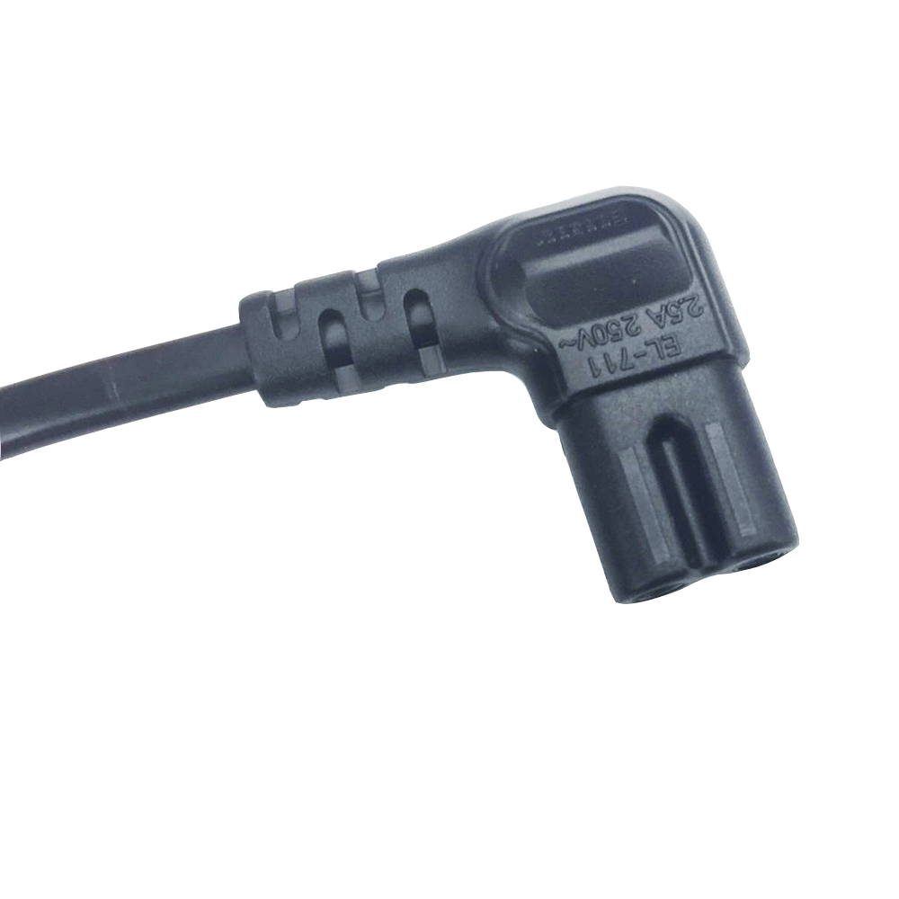 Image 4 - 3M 5M Angled EU power cable 2 Prong Pin Power Supply Cord AC plug to angled figure 8 C7 plug 10ft 15ft for PS4,TV,DVD etc.-in Computer Cables & Connectors from Computer & Office