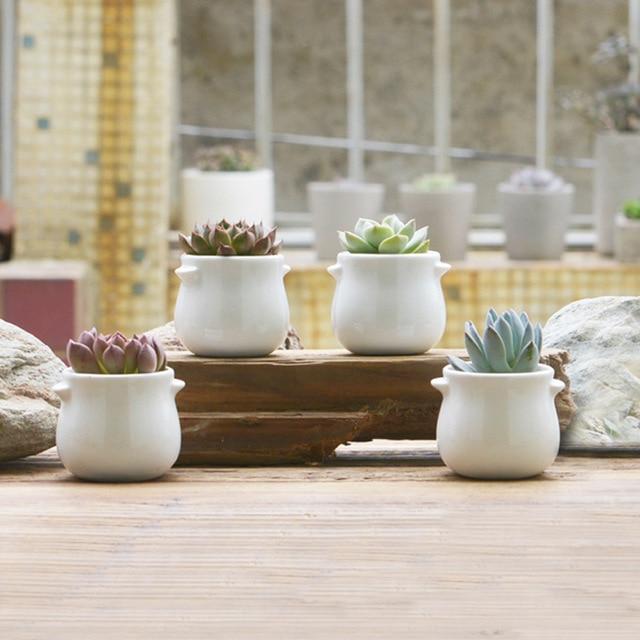 Hot sale white ceramic plant pots crafts cute flower pots planters hot sale white ceramic plant pots crafts cute flower pots planters with ear for succulent ceramic mightylinksfo