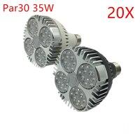 Большая скидка! Par30 светодиодный пятно света высокой Яркость E27 35 Вт светодиодный лампы освещения AC85-265V теплые/холодный белый Светодиодный ...