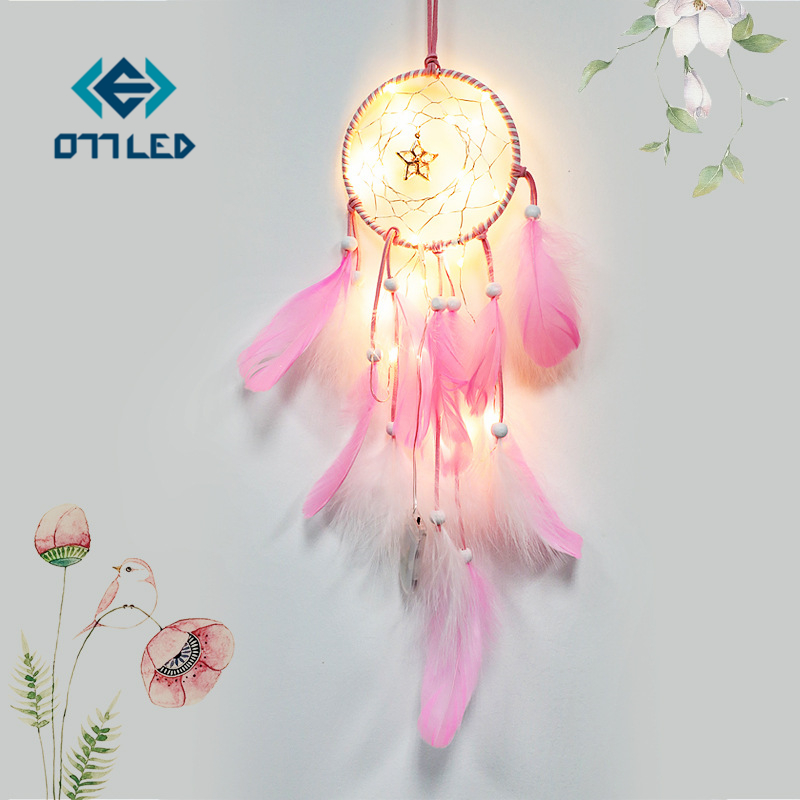 Indians Dream Catcher LED Night Light Colors Garland Battery Powered Fairy Lights For Home Wedding Holiday Decoration Lightings