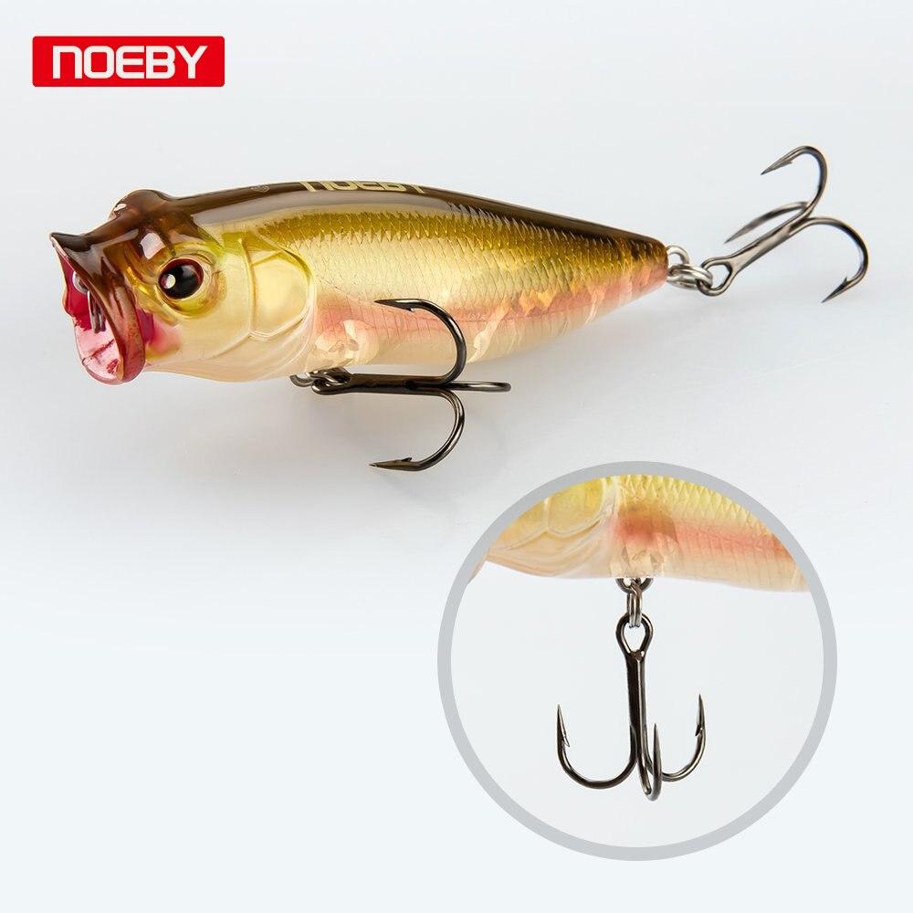 Noeby 2ks 45mm 65mm Popper Lure Rybářské návnady Crankbait Minnow Hooks Plavání Crank Bait