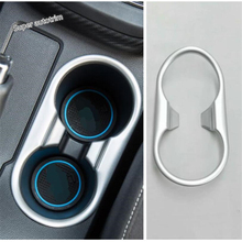 Lapetus Console Central Front Water Cup Holder Panel Cover Trim 1 Pcs Matte / Carbon Fiber Style Fit For MG ZS 2018 2019 ABS