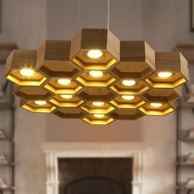 slatted wooden structure Pilke series honeycomb Pendant lamps by Pilke Light  suspension wood lighting - Slatted Wooden Structure Pilke Series Honeycomb Pendant Lamps By