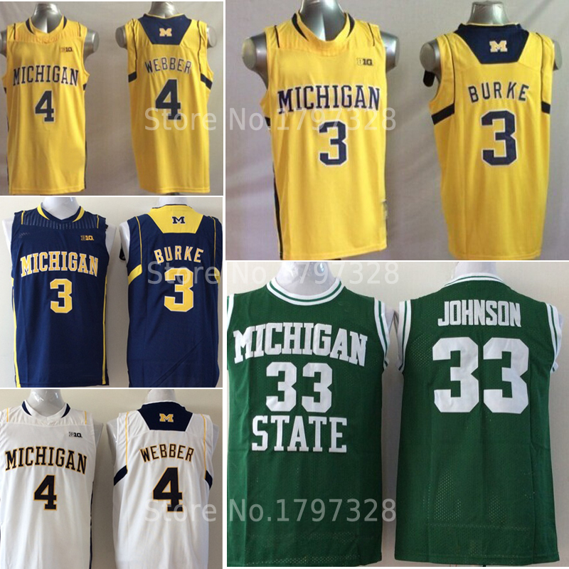 online store 14858 f8946 new style wolverines 3 trey burke navy blue basketball ...