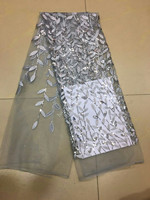 8 Colors White Black Blue Green Red Gold Wine Glitter Sequins African India Tulle Fabric For