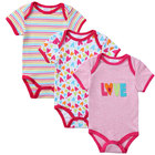 3Pcs/lot Bodysuit Baby Summer Short Sleeve Cotton Love Printed Fashion Infant Newborn Baby Girl Clothes Onesie Jumpsuit for Baby