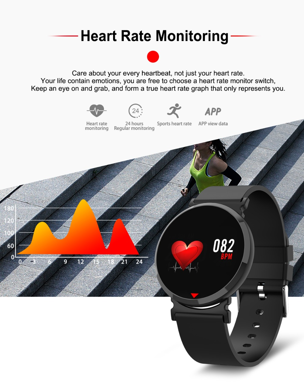 E28 Smart Watch Heart Rate Blood Pressure Oxygen Sleep Monitor Pedometer  Alarm Clock Find Phone Call Reminder Smartwatch PK Q8
