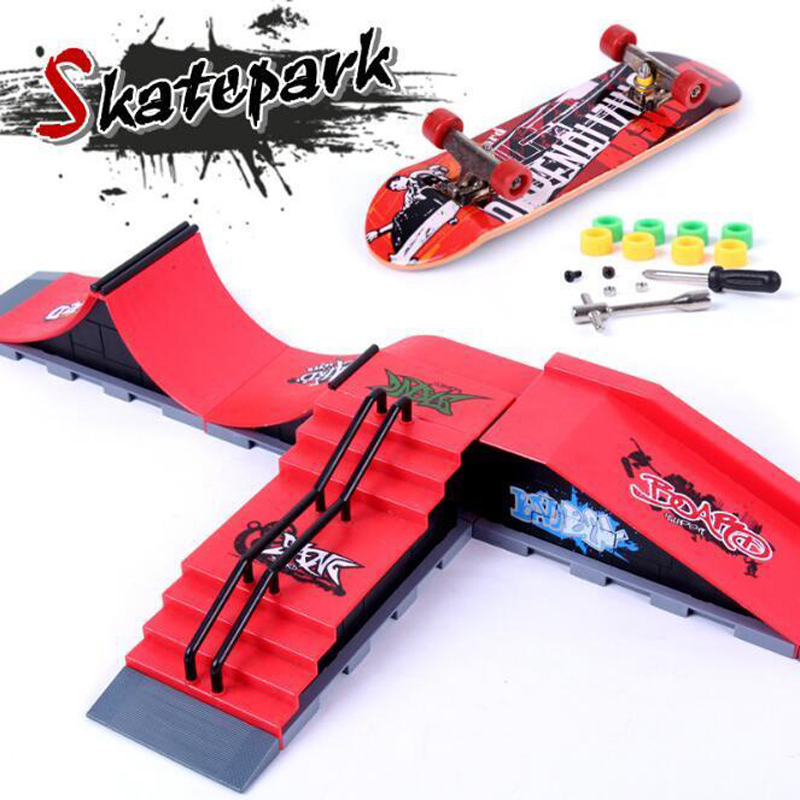 Finger Skateboards Skate Park Ramp Parts for Tech Practice Deck Children Gift Set Fingerboard Toys цены