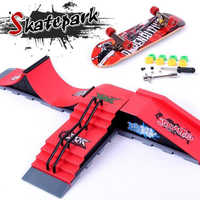Finger Skateboards Skate Park Ramp Parts for Tech Practice Deck Children Gift Set Fingerboard Toys