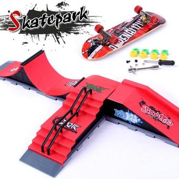 Finger Skateboards Skate Park części rampy dla Tech Practice Deck zestaw upominkowy dla dzieci Fingerboard Toys tanie i dobre opinie Z tworzywa sztucznego XC015 23 5cm * 10cm * 9cm Finger deskorolki 12-15 lat 5-7 lat Dorośli 8-11 lat