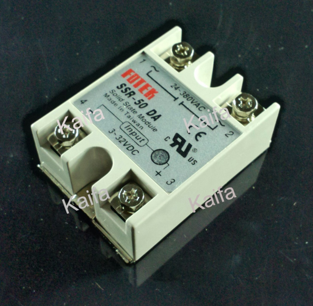 цена на Industrial Solid State Relay SSR 50A with Protective Flag SSR-50DA 50A DC control AC