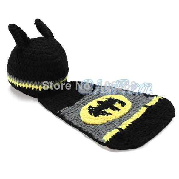 Newborn Baby Batman Hat Crochet Pattern Infant Photography Props