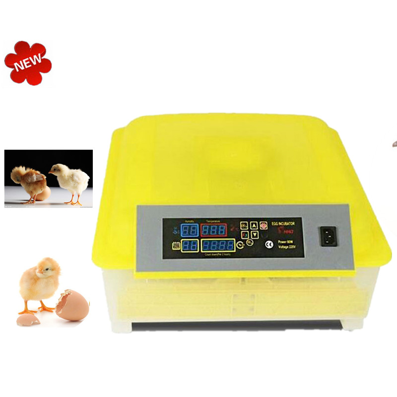 48-Eggs Intelligent Automatic Egg Incubator  for Hatching Chicken Duck Bird Quail Poultry AC110-220V hatching chicken duck egg incubator 48 eggs incubator automatic incubator poultry incubation equipment
