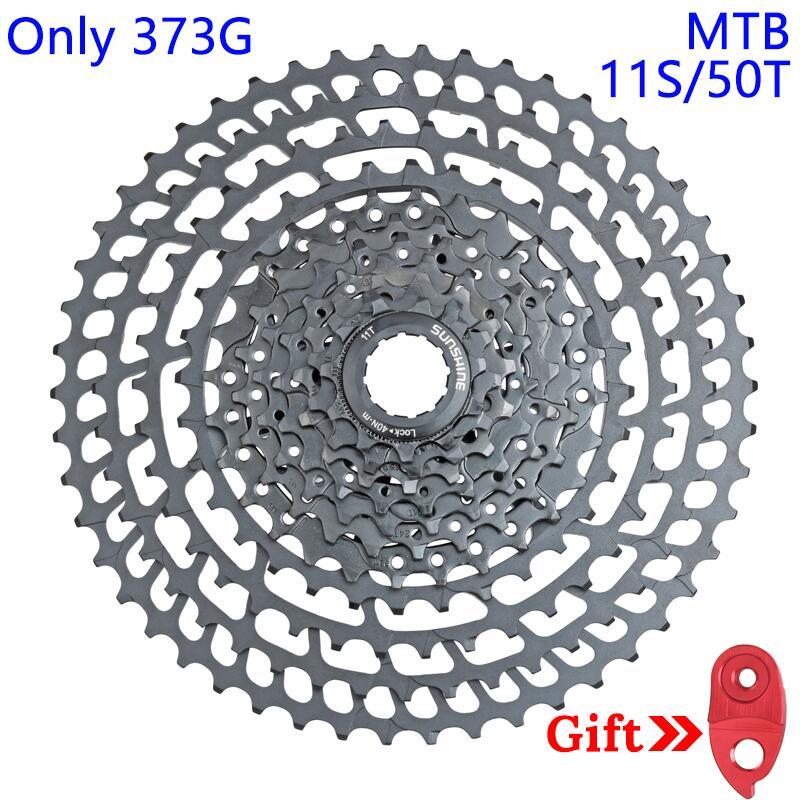 MTB Cassette 11 Speed 50T Sprockets 373g Ultralight Bike Freewheel 10Speed 11 50T 376G Mountain Bicycle
