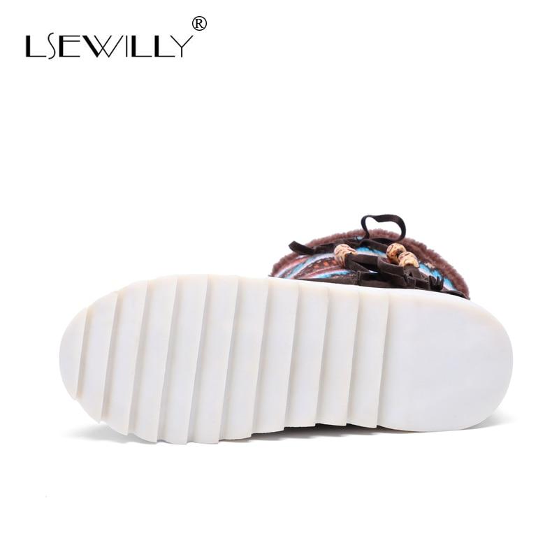 Lsewilly Χειμώνας μπότες γυναικών - Γυναικεία παπούτσια - Φωτογραφία 4