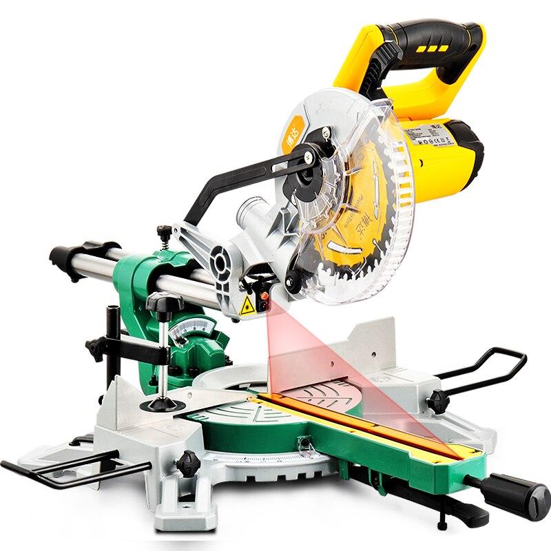 Scie en aluminium machine en aluminium 7 pouces machine de découpe de tige scie à onglet multi-usages chanfrein 45 degrés outils de travail du bois
