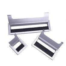 Aluminum Alloy Square Wire Hole Cover Desktop Desk Threading Box  MAL999