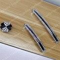 Botão único Buraco Passo 96mm/128mm de Diamante de Cristal Puxadores para móveis Hardware Wardrobe Armários de Cozinha Armário Pull Handle
