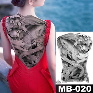 a08b50cb7be6c 48*35 cm Woman catching fish large tattoo stickers for men