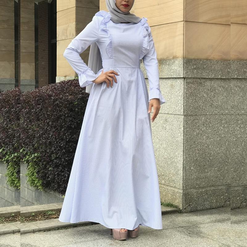 Vestidos Abaya Dubai Kaftan Linen Shawl Muslim Hijab Dress