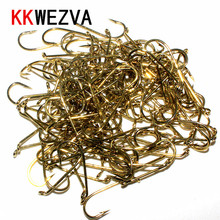 Attractive Maximum Catch 100pcs Long 18mm/Width 7mm 8# Nymph Fly Tying Hooks Jig Barbless Gold Nickel Fishing Hook