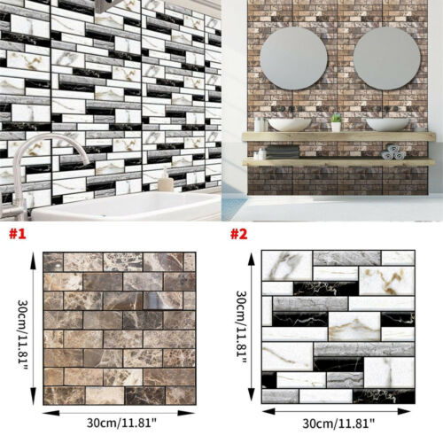 Image 2 - Home Office 3D Brick Waterproof Wall Sticker Self Adhesive Panel Décor Removable-in Wall Stickers from Home & Garden
